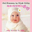 ~2nd GIVEAWAY BY HIJAB VALLEY~