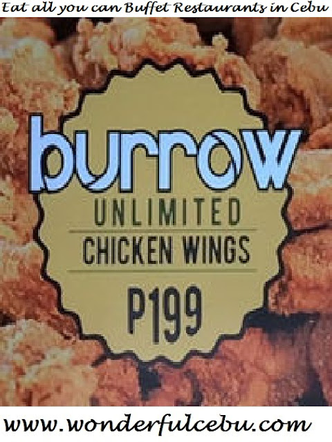 Burrow lounge unlimited chicken wings eat all you can in Cebu