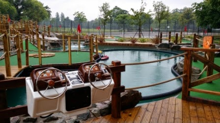Photo of the new 36-hole Mini Golf course in Cannon Hill Park. Photo by Paul Johnson