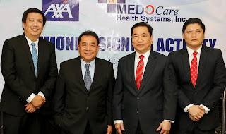 AXA Philippines and Lockheed Group-Medocare Health Systems forge agreement