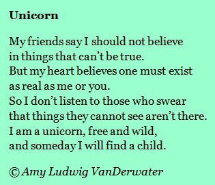 The Poem Farm Poetry Friday Unicorn