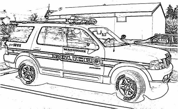 Desenhos de carros de pol cia para colorir for Jacked up truck coloring pages