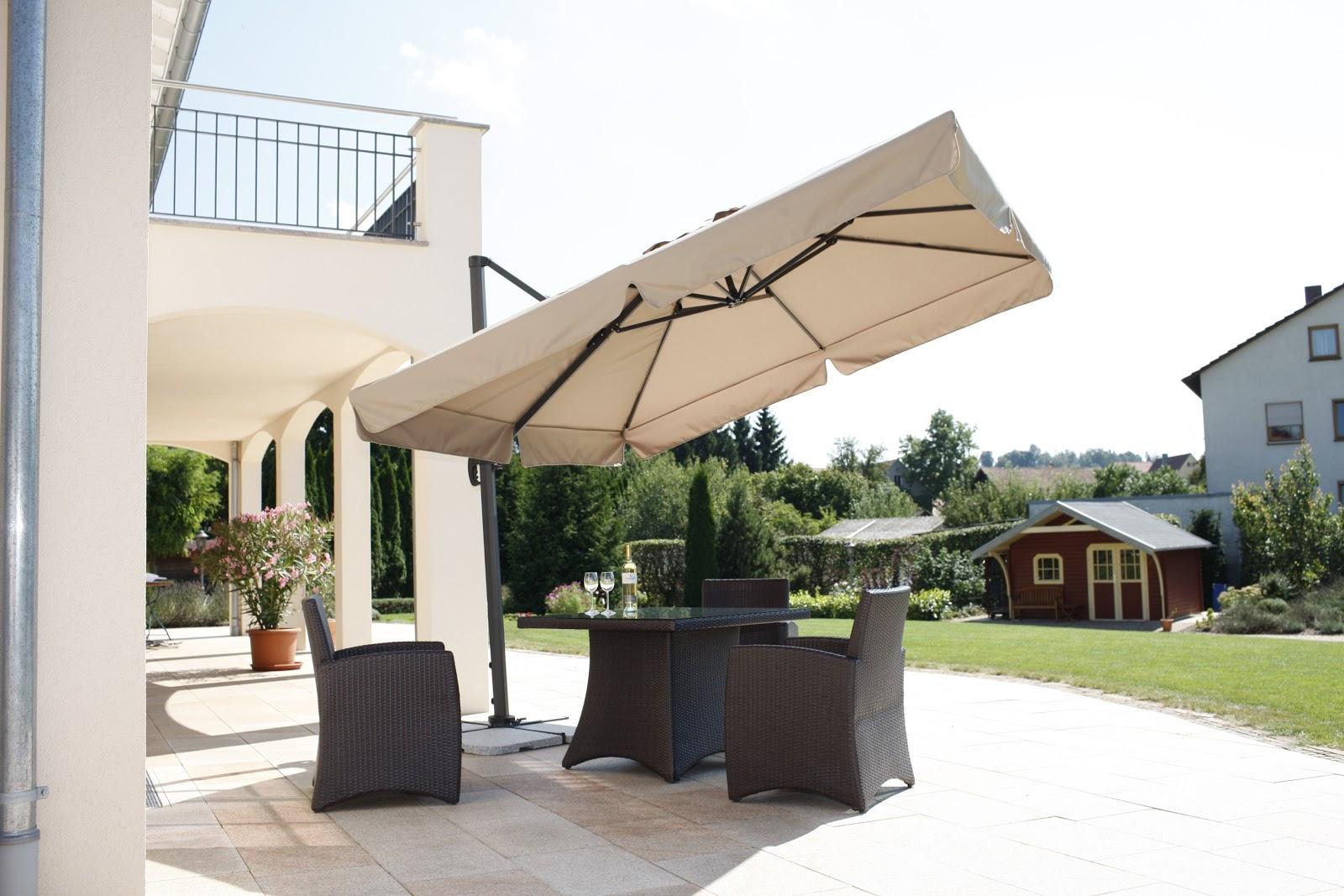 m bel und einrichtungsideen sonnenschirme als highlight f r jede terrasse. Black Bedroom Furniture Sets. Home Design Ideas
