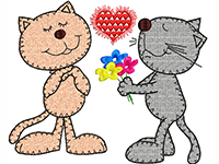 Cats Lovers machine embroidery design