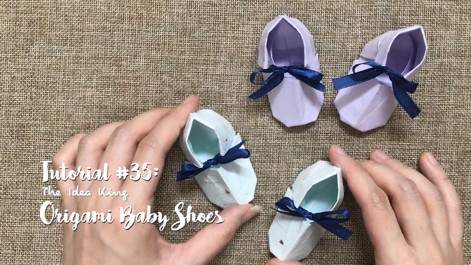 Tutorial 35 Origami Cute Baby Shoes The Idea King
