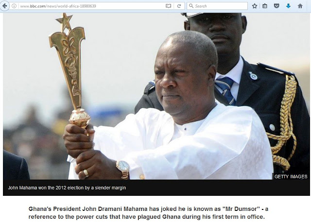 BBC shows who to vote for and called Mahama 'Mr Power Cut'