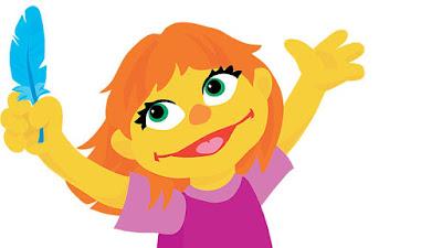 Julia nuevo personaje de Barrio Sésamo - autismo