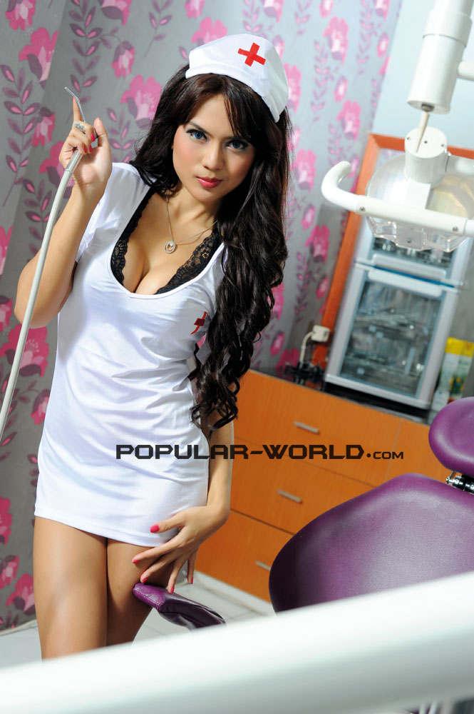 Anggita Sari For Popular World Magazine, Nurse Costume