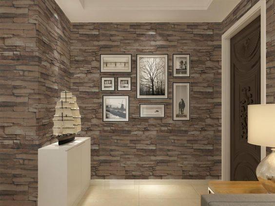 Decorative Stone Wall Design Home Interior Decoration Ideas 2019
