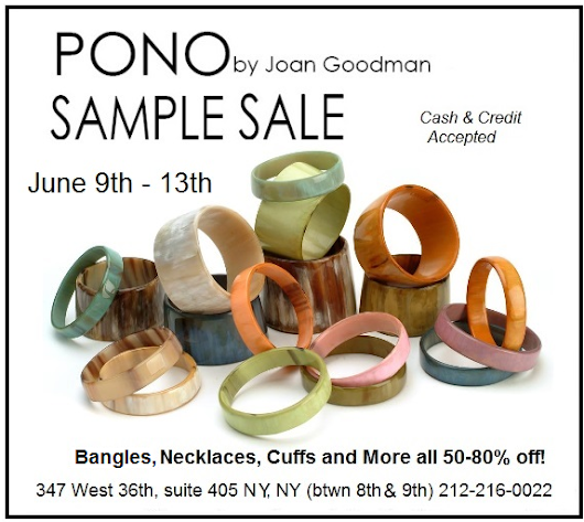 PONO Jewelry Sample Sale 6/9 - 6/13