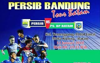 Jadwal Persib Bandung vs PS PB Batam 11 Januari 2018 - Laga Uji Coba