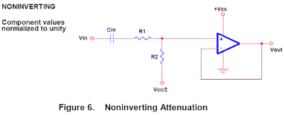 Non Inverting Attenuator Circuit