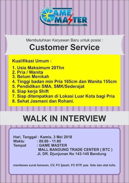Loker Customer Service Bandung