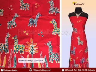 Seragam kain batik tulis motif Jerapah In Yogyakarta 0857.4543.7157