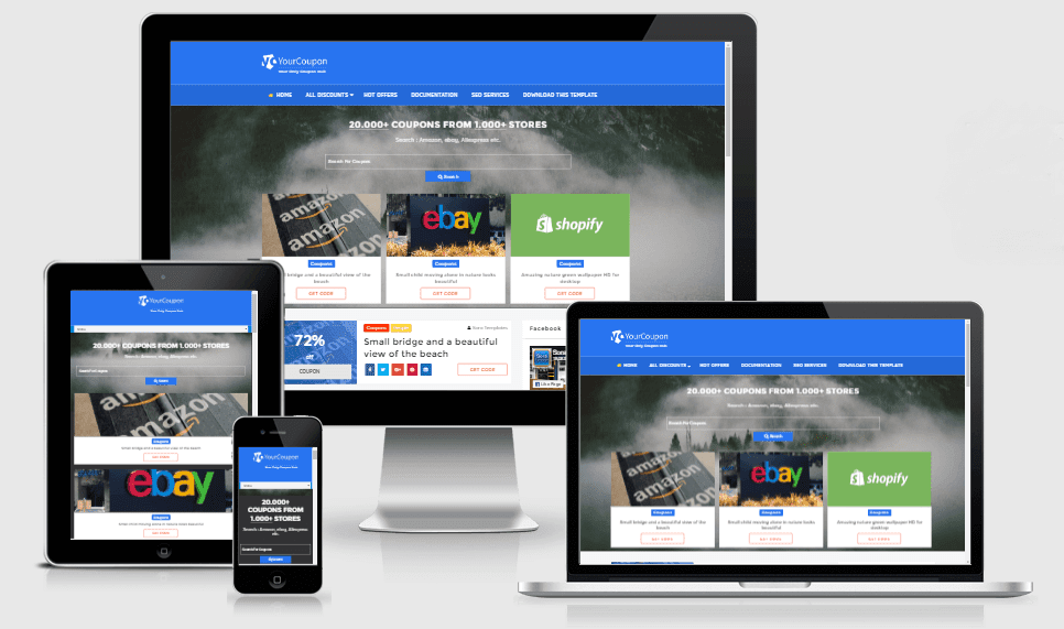 Your Coupon - Responsive Discounts and Coupons Blogger Template