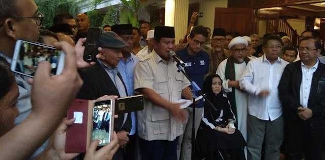 Prabowo Tutup Rapat Ruang Negosiasi dengan Kubu Jokowi