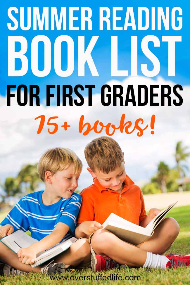 New readers—like the kids that have just graduated from Kindergarten—are more at risk for the summer slide than older kids. It's super important that your rising first grader practices reading during the summer so that they don't fall behind before school even starts. Use this SUMMER READING LIST of 75+ books to choose some books your first grader is sure to love this summer!