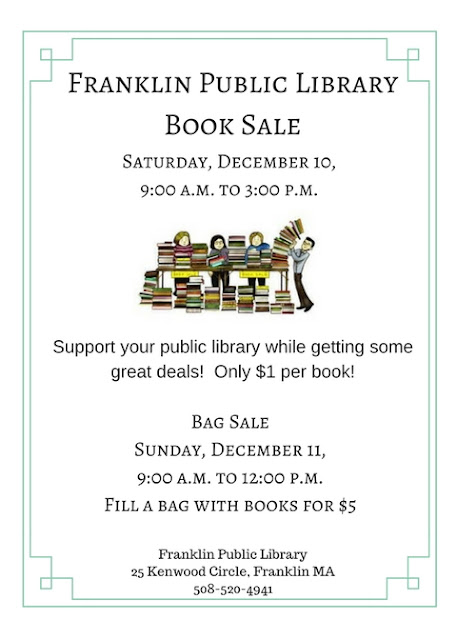 Library Book Sale: Saturday, Dec 10 - 9:00 AM to 3:00 PM