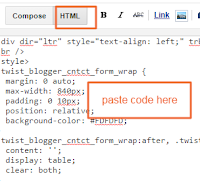 editing html of page