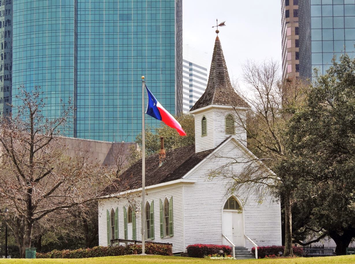 St. John's Old German Church in Sam Houston Park