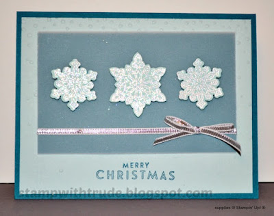 Flurry of Wishes, Christmas, snowflakes, Stampin' Up!, Stamp with Trude, Tuesday Tutorial