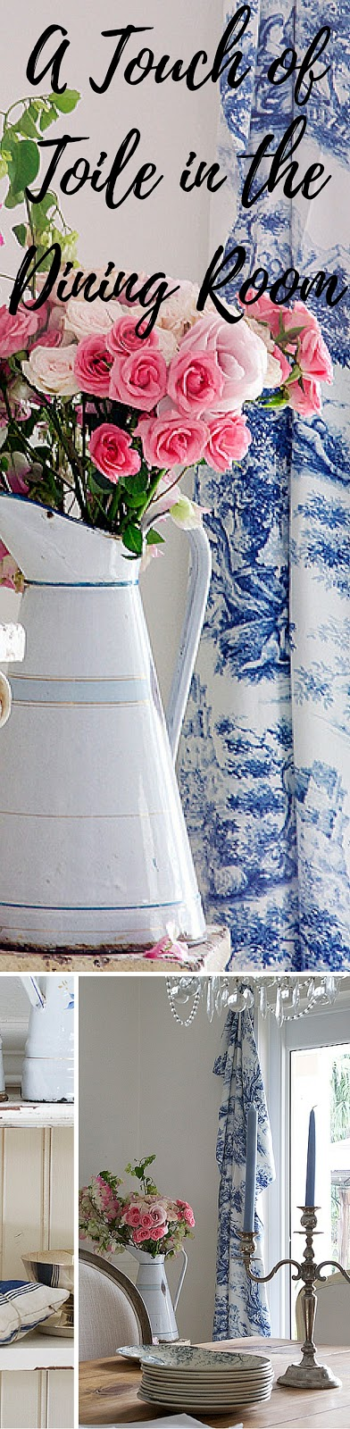 Decorating with toile - a touch of toile in the dining room