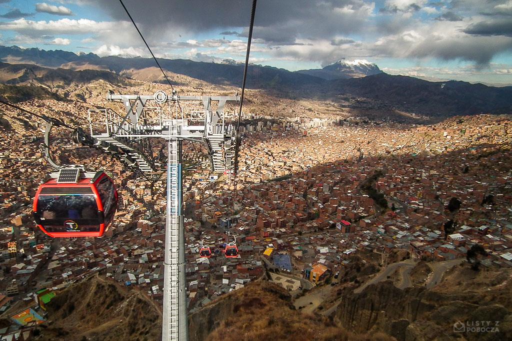 Kolejka linowa w La Paz w Boliwii