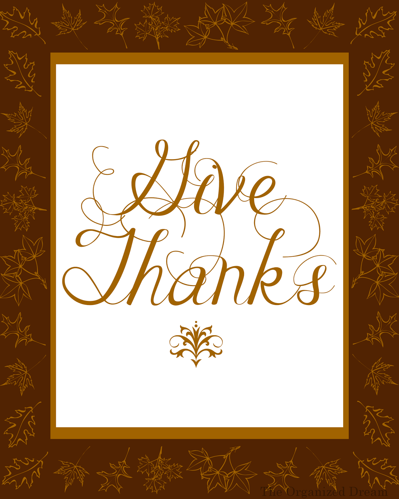 Free Thanksgiving Printables Amp Place Cards