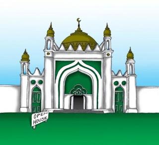 Gambar Kartun Masjid Cantik dan Lucu 201705