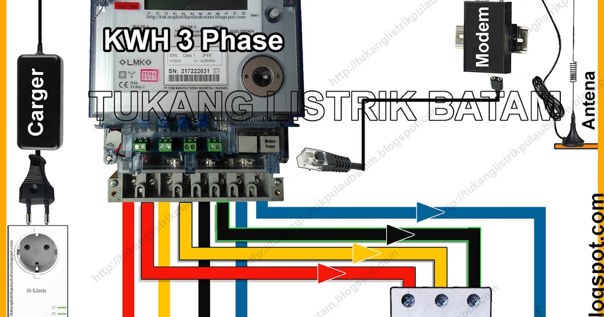 Wiring Diagram Listrik 3 Phase : Cara memasang panel listrik phase kwh meter tukang