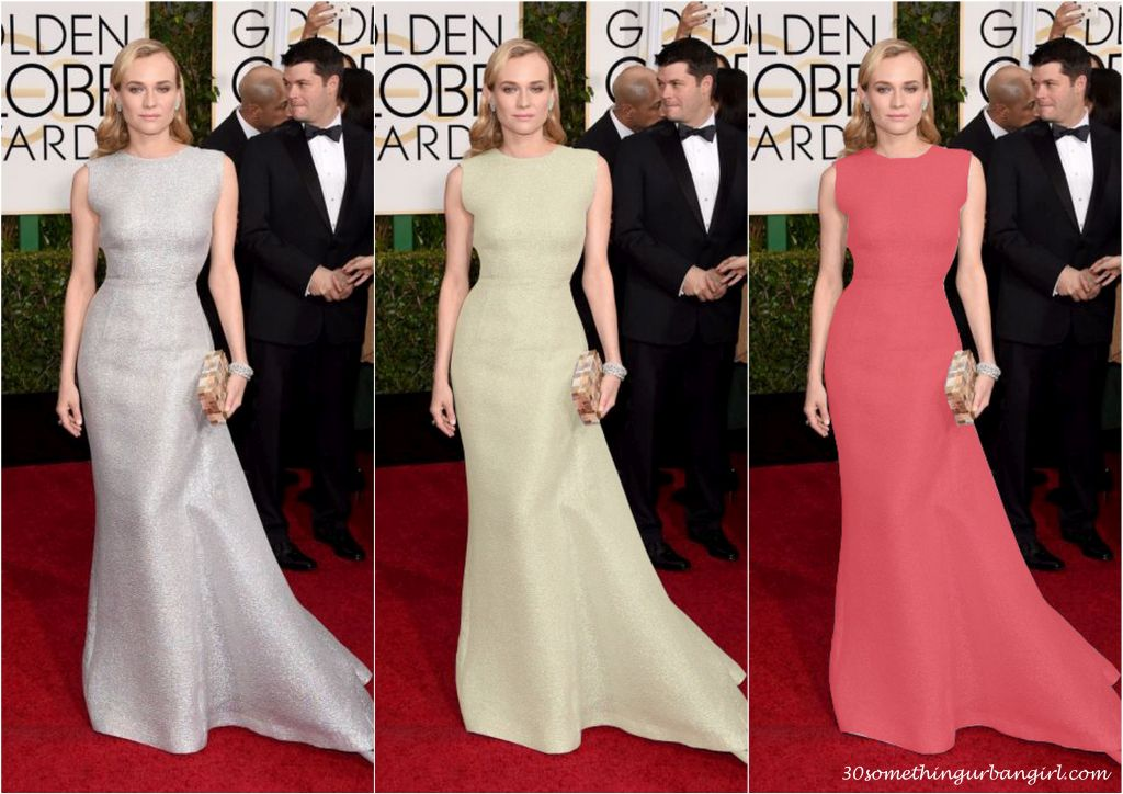 Diane Kruger's Golden Globe 2015 Emilia Wickstead dress in different colors