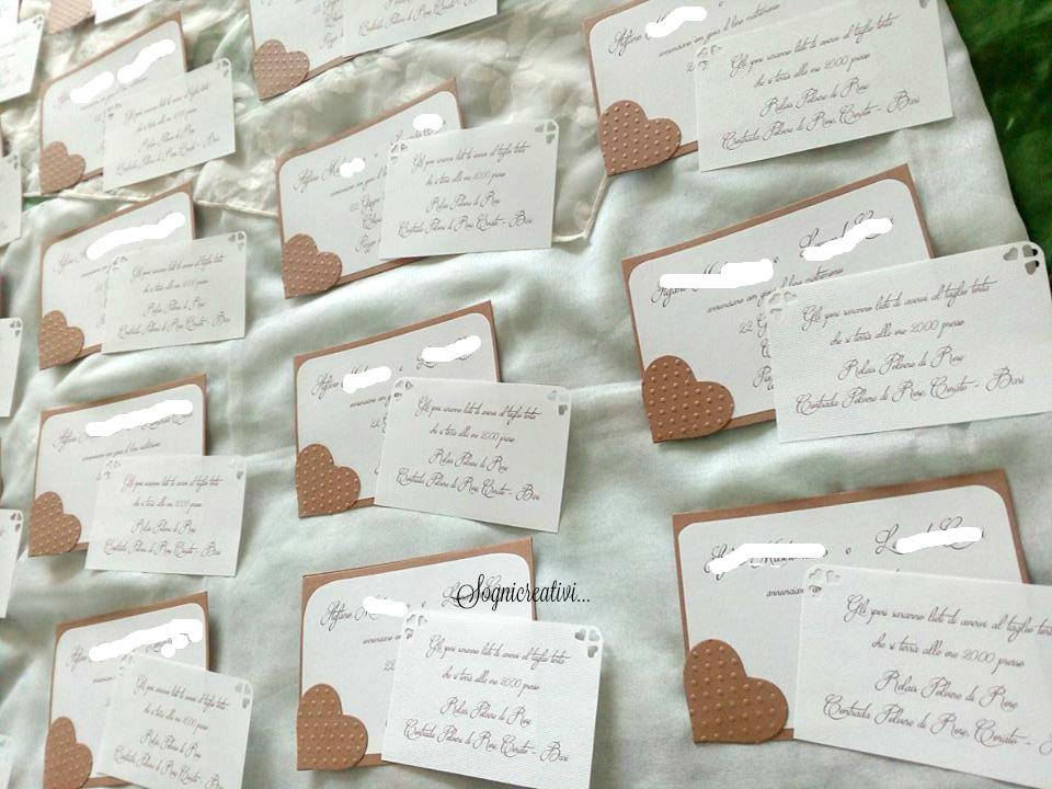 Extrêmement Partecipazioni Sognicreativi Wedding and Events: Partecipazioni  TK73