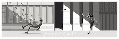 Paperman Disney Screen Print by Jisoo Kim x Cyclops Print Works