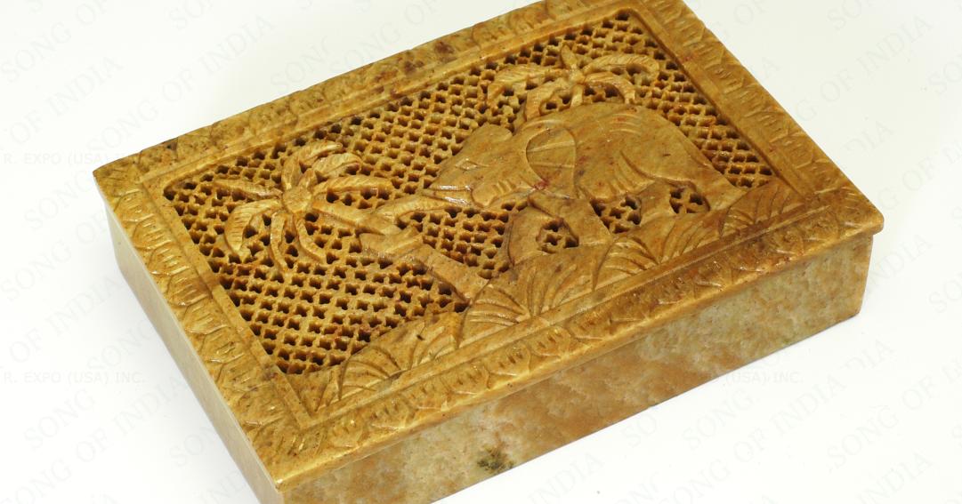 Indian Soap Stone Jewelry Box Jewellery India