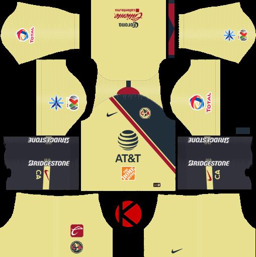 Club America 2018/19 Kit - Dream League Soccer Kits