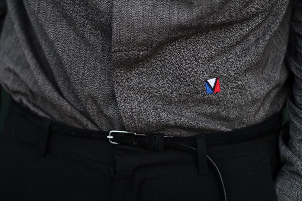 nouveau logo louis vuitton LV chemise chevron