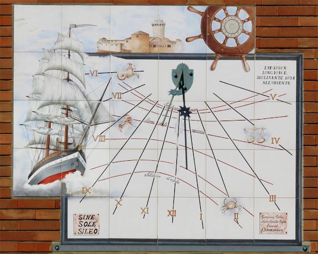 Sundial, Istituto Nautico Alfredo Cappellini, Piazza la Giovine Italia, Livorno