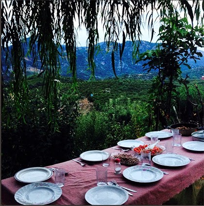 Dining in the mountains - Mersin, Turkey - shewandersshefinds.com