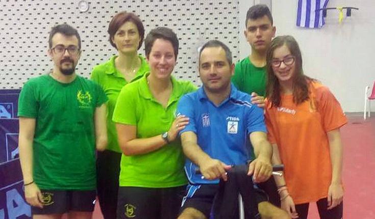 1 χρυσό και 2 χάλκινα μετάλλια ο Α.Σ. ΑμεΑ Κότινος στο Πανελλήνιο πρωτάθλημα Πινγκ Πονγκ