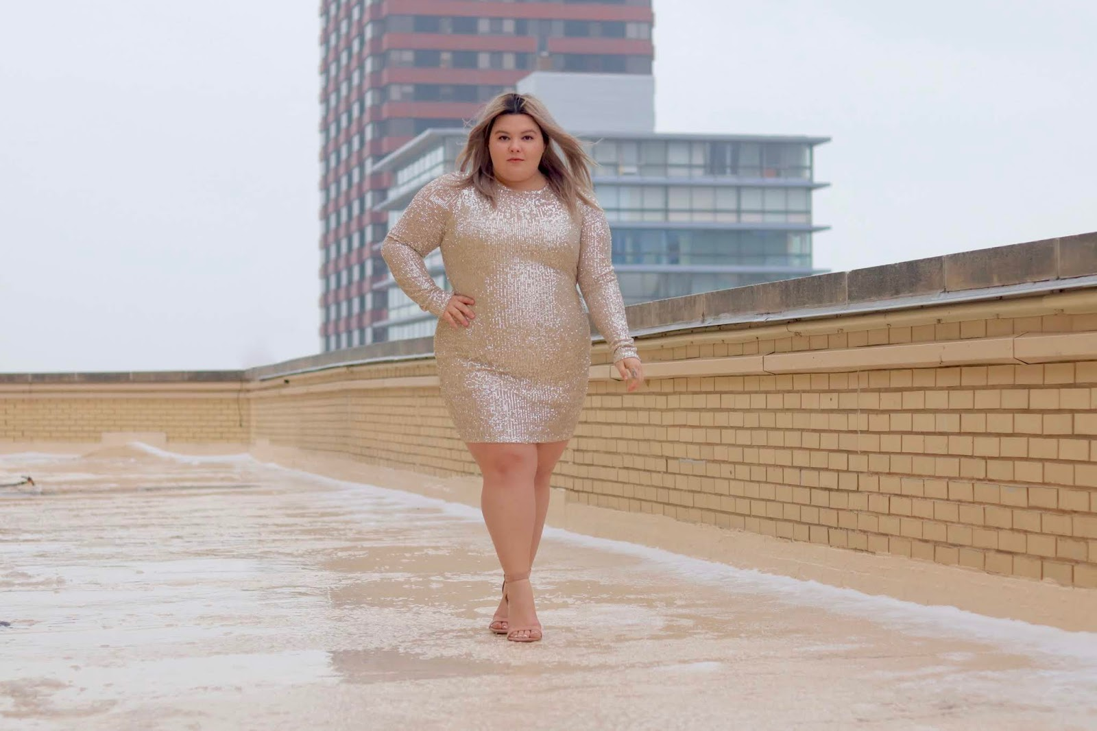 Chicago Plus Size Petite Fashion Blogger, YouTuber, and model Natalie Craig, of Natalie in the City, shares her favorite outfits for Valentine's Day 2019 from Fashion Nova Curve.