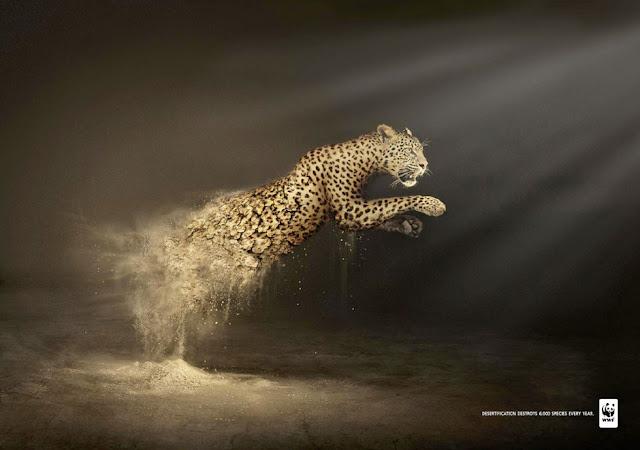 衝撃的でクリエイティブ、世界自然保護基金WWFの面白い広告 砂漠化