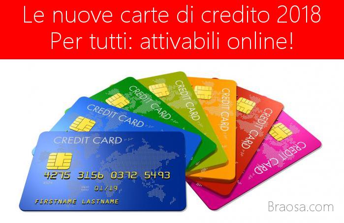 Le carte di credito più convenienti attivabili da tutti online