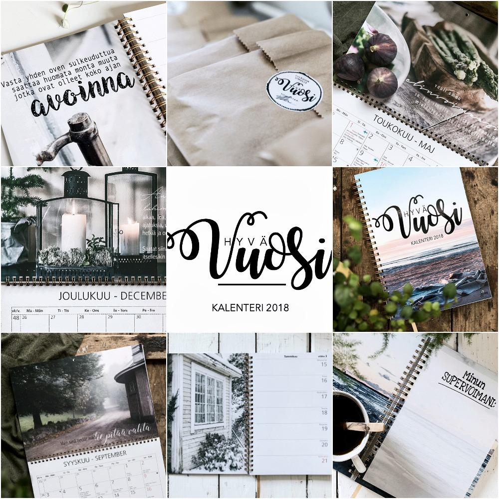 Hyvä Vuosi, kalenteri, vuosi 2018, uusi vuosi, almanakka, päivyri, Unelmieni Vuosi, mietelauseet, aforismit, kuvakalenteri, Visualaddict, Frida Steiner, valokuvaaja, seinäkalenteri, viikkokalenteri, Hyvän mielen kalenteri, itsetuntemus, itsensä hyväksyminen, quotes,