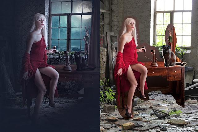 Old House - Photoshop Manipulation Lighting Effects
