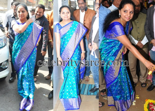 Kavitha Blue Stripes Saree