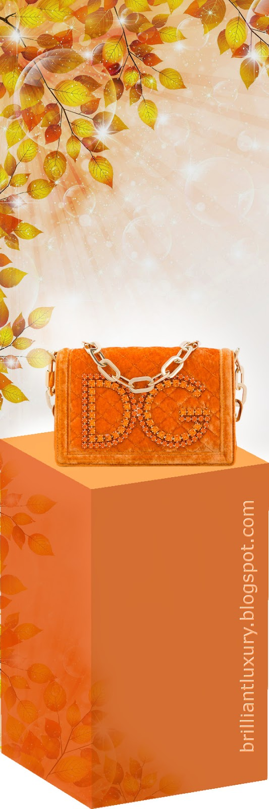 Brilliant Luxury ♦ Dolce & Gabbana DG girls shoulder bag #orange