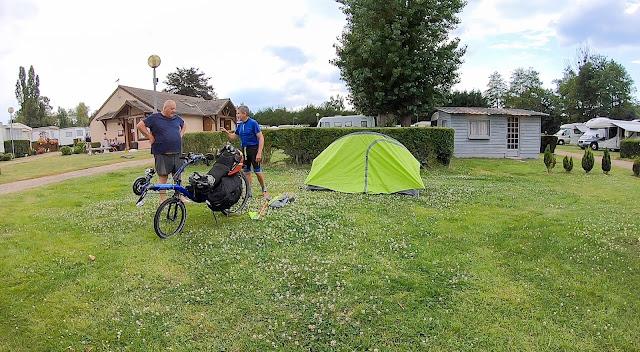 En vélo de Paris à la Normandie, camping