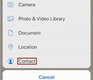 Cara Berbagi Info Kontak dalam Obrolan di WhatsApp
