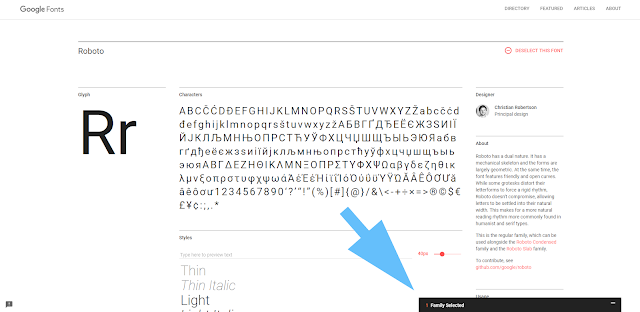 Cara Lain Menambahkan Font Library di Dalam Template