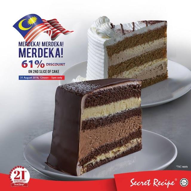 Promosi Harga Kek di Secret Recipe sehingga 61% Sempena Merdeka